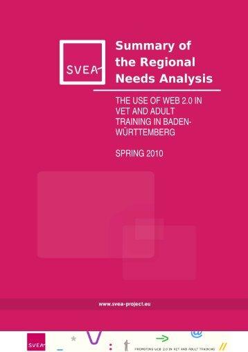Regional Analysis Report (Baden-Württemberg - DE) - SVEA