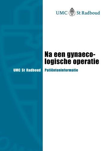 Na een gynaecologische operatie - UMC St Radboud