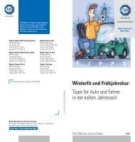 T I P P S Winterfit und Frühjahrskur: Tipps für Auto und ... - TÜV Süd