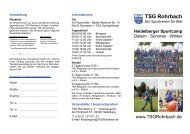 Heidelberger Sportcamp - TSG Rohrbach
