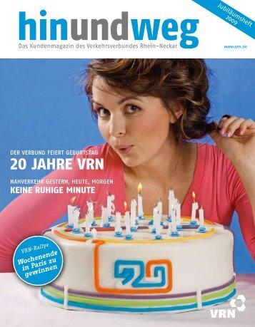 20 Jahre VrN - VRN Verkehrsverbund Rhein-Neckar