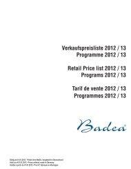 Badea Verkaufspreisliste 2012/2013 - tenne Bad + Fliesen
