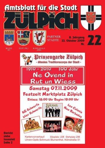 8. Jahrgang 23. Oktober 2009 Nr. PARTNER ... - Stadt Zülpich