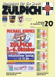 8. Jahrgang 25. September 2009 Nr. PARTNER ... - Stadt Zülpich
