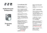 Stadtseniorenrat Eislingen/Fils Programm 2012 - eislingen-online