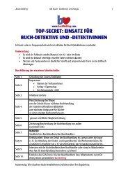 Buch- Detektive unterwegs - Buchliebling.com