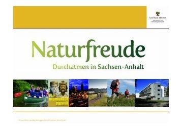 """Marketingstrategie """"Naturfreude – Durchatmen in Sachsen-Anhalt"""""""