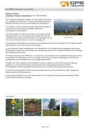 Wandern: Grenzsteine und zwei Eichen (Tour 64923) - Tourenblatt