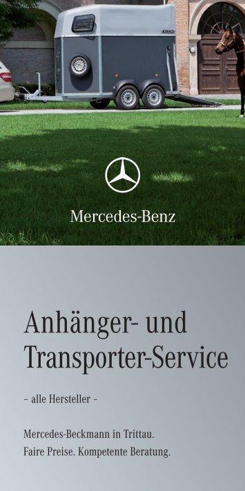 """Unser aktueller Flyer """"Anhänger- und Transporter-Service"""""""