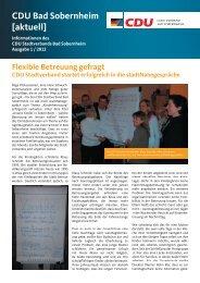 CDU Bad Sobernheim aktuell Ausgabe 1 2012 - CDU Stadtverband ...