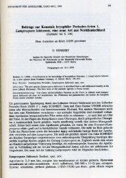 Beiträge zur Kenntnis bryophiler Pezizales-Arten 1. Lamprospora ...