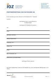 Muster Partnervertrag - IOZ AG