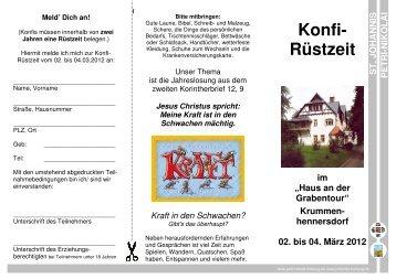 Flyer RZ Konfi 2012 - Petri-Nikolai und St. Johannis zu Freiberg