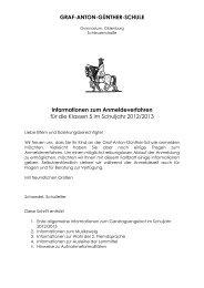 Informationen zum Anmeldeverfahren - Graf-Anton-Günther-Schule ...