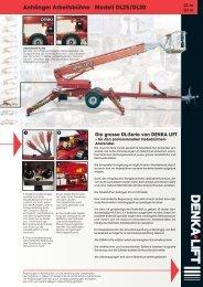 Anhänger Arbeitsbühne Modell DL25/DL30 - Rothlehner ...