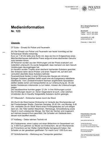 Medieninformation [Download *.pdf, 92.70 KB] - Polizei Sachsen