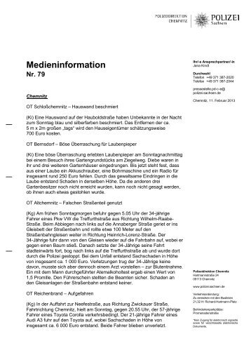 Medieninformation [Download *.pdf, 96.35 KB] - Polizei Sachsen