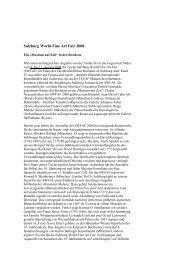 Pressemitteilung 2 - The Salzburg World Fine Art Fair