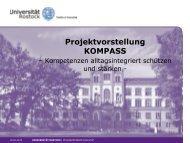 Vorstellung des Projekts KOMPASS (Powerpointpräsentation als .pdf)