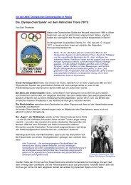 Die Olympischen Spiele vor dem Hallischen Thor - GYMmedia.com