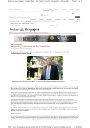 Holger Hatje - der Banker mit dem Löwenblick - Berliner Volksbank