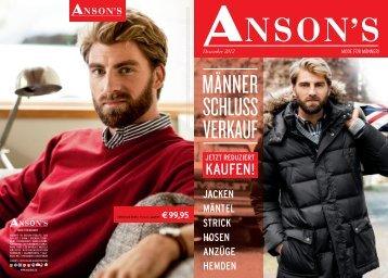 JACKEN MÄNTEL STRICK HOSEN ANZÜGE HEMDEN - Anson's