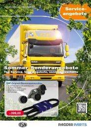 Sommer-Sonderangebote Service- angebote - DAF Service Dealer