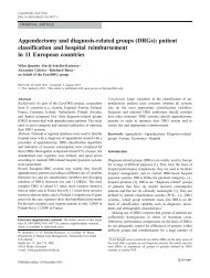 Appendectomy and diagnosis-related groups (DRGs ... - TU Berlin
