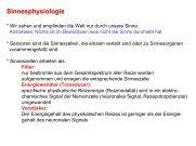 Sinnesphysiologie - Institut für Biologie und Neurobiologie, FU Berlin