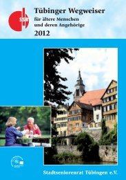 Wegweiser des Stadtseniorenrats - in Tübingen