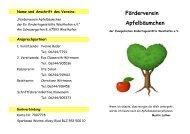 Förderverein Apfelbäumchen - Evangelische Kirchengemeinde ...