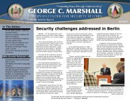 Security challenges addressed in Berlin - The George C. Marshall ...