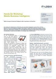 Hands-On Workshop Mobile Business Intelligence - IT-Logix AG