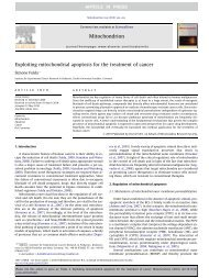 Exploiting mitochondrial apoptosis for the treatment of cancer