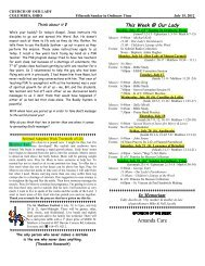 Bulletin Template - Church of Our Lady of the Miraculous Medal