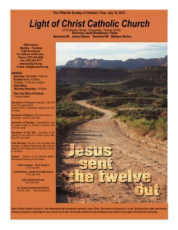 July 15, 2012 - Light of Christ Catholic Church