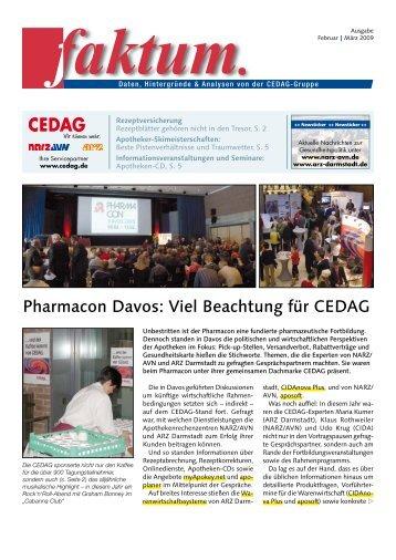 Pharmacon Davos: Viel Beachtung für CEDAG - NARZ/AVN