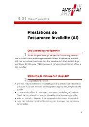 Prestations de l'assurance invalidité (AI) - AHV