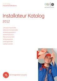 GE - Installateur Katalog 2012 - GE Industrial Solutions