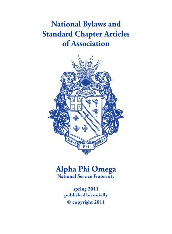 National Bylaws - Alpha Phi Omega - Beta Sigma Chapter