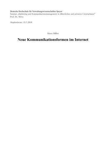 """""""Neue Kommunikationsinstrumente im Internet"""" zum ... - Telemedicus"""