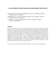 A Systemizing Research Framework for Web 2.0 - LSE Department ...