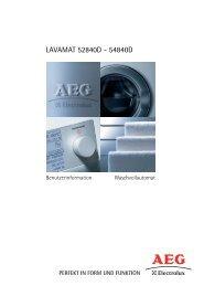 LAVAMAT 52840D - 54840D