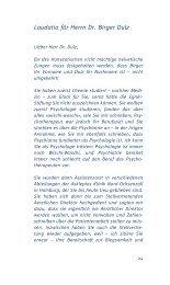 Laudatio für Herrn Dr. Birger Dulz - Dr. Margrit Egnér-Stiftung