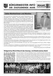 Bürgermeisterinfo März 2011 (5,41 MB) - Stadtgemeinde Mank