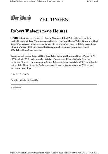 Robert Walsers neue Heimat - Itten + Brechbühl AG