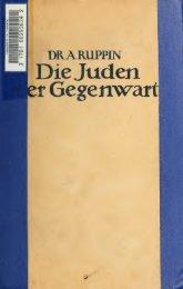 Die Juden der Gegenwart. Eine socialwissenschaftliche Studie