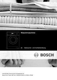 Bosch WAA 20260 Manual User Guide Pdf - Washing Machine ...