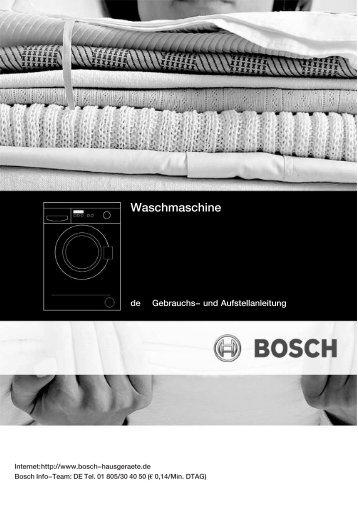 Bosch Wff 1400 Manual