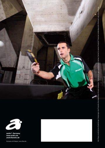 Andro Katalog 2010 - Tischtennis.biz